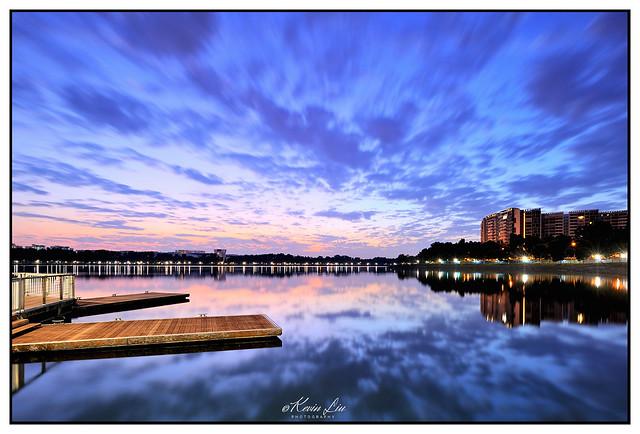 Sunrise at Bedok Reservoir, Singapore