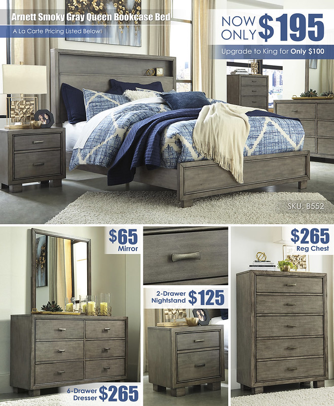 Arnett Smoky Gray Queen Bedroom Layout_B552