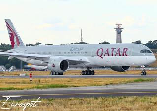F-WZNF Airbus A350-1000 Qatar