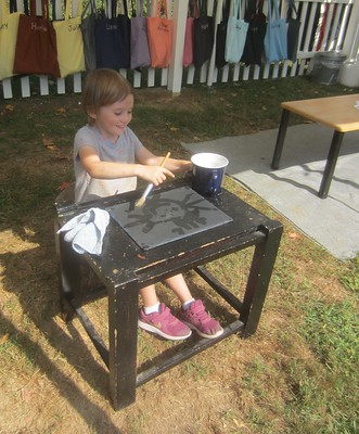painting on slate with water