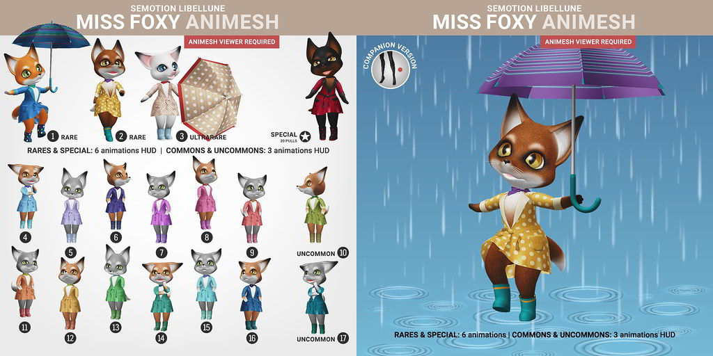 SEmotion Libellune Miss Foxy Animesh