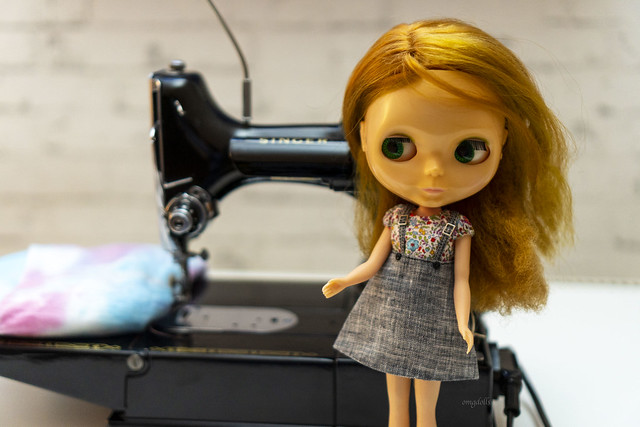 Blythe A Day 10 September 2020 - Sewing Machine