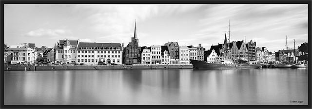Lübeck, Museumshafen, analog 6x17cm