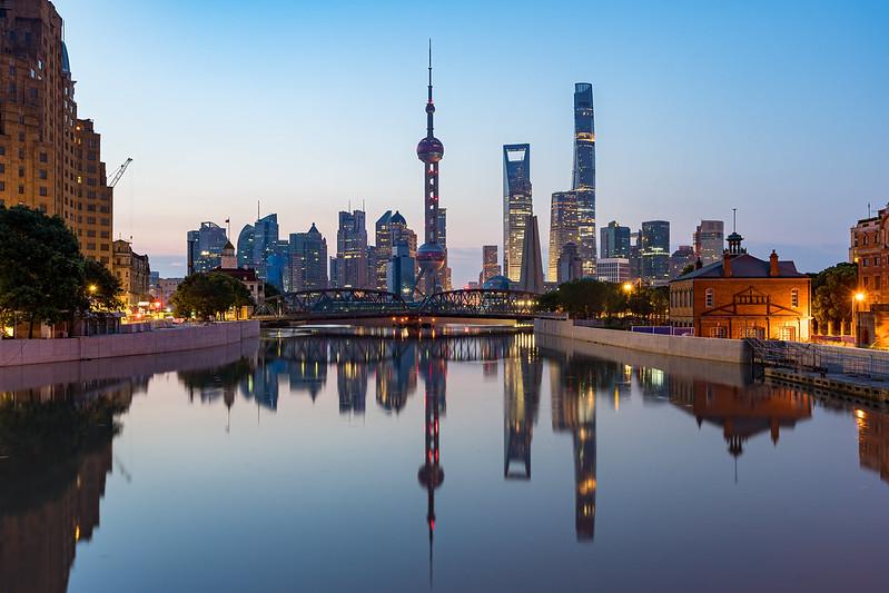 Amanecer en Shanghai desde diferentes vistas. en Urbana y Arquitectura50328076928_b000d3880b_c