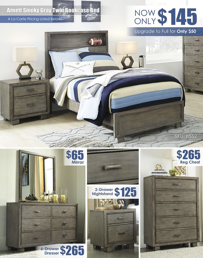 Arnett Smoky Gray Twin Bedroom Layout_B552