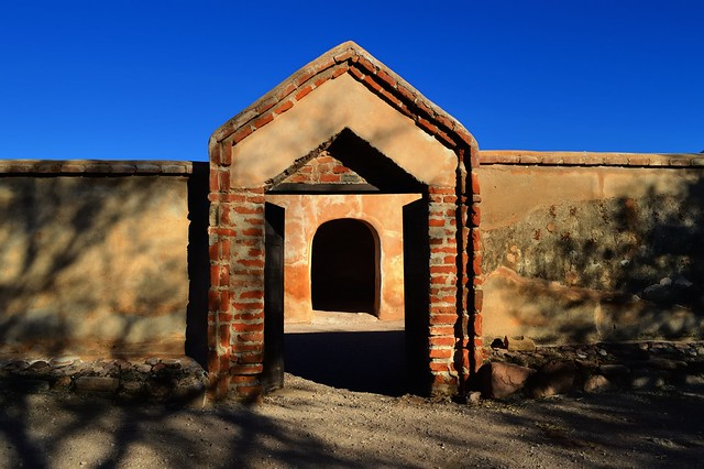 Nested doorways, Mission San José de Tumacácori, Santa Cruz County, Arizona.
