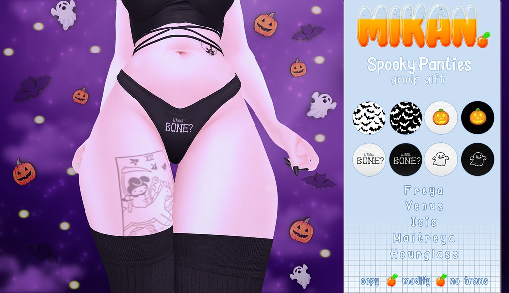 { Mikan. } Spooky Panties GROUP GIFT!