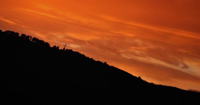 coucher de soleil à clermont-ferrand