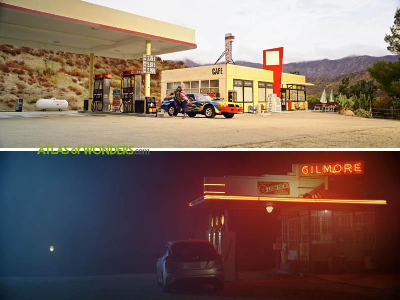 The petrol station set