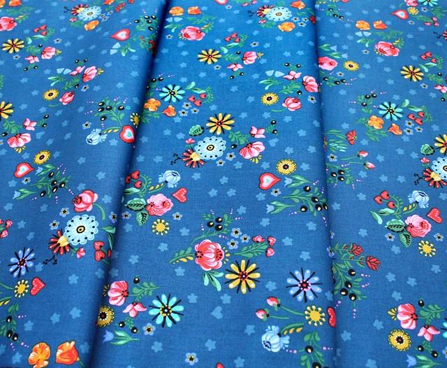 Robert Kaufman Hidden Canyon WEL-19806-82 Floral Blue