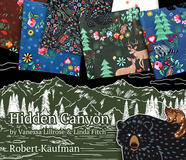 Robert Kaufman Hidden Canyon Collection by Vanessa Lillrose & Linda Fitch
