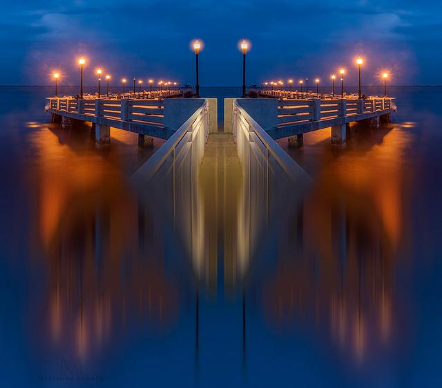 Blue Hour on Brewer Bridge+, in Florida