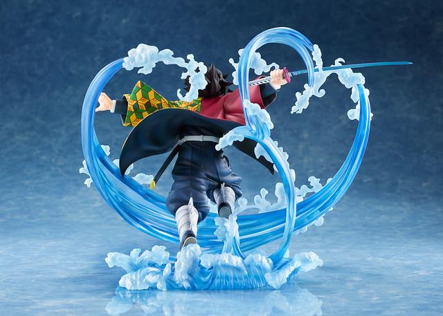 ANIPLEX+限定《鬼滅之刃》富岡義勇 1/8比例模型 再現水之呼吸的華麗特效!