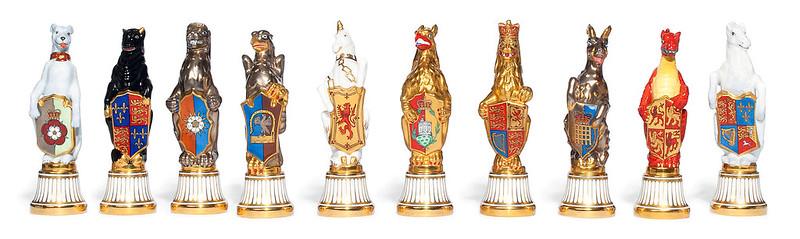 A set of ten Minton Models of the Queen's Beasts 1955,