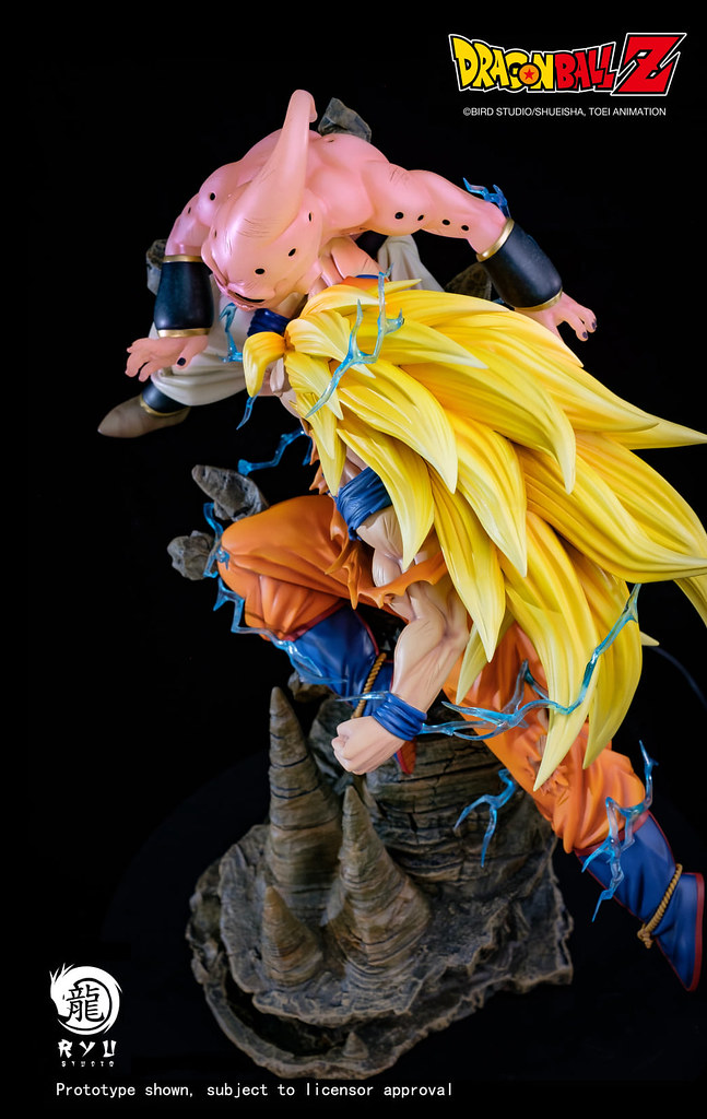 Ryu Studio《七龍珠Z》魔人普烏(純粹)VS 超三悟空 1/6比例全身雕像