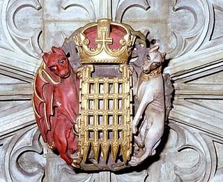 Roof boss, St George's Chapel, Windsor Castle