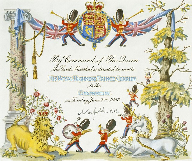 Prince Charles's invitation to the Coronation by Joan Hassall, 1953