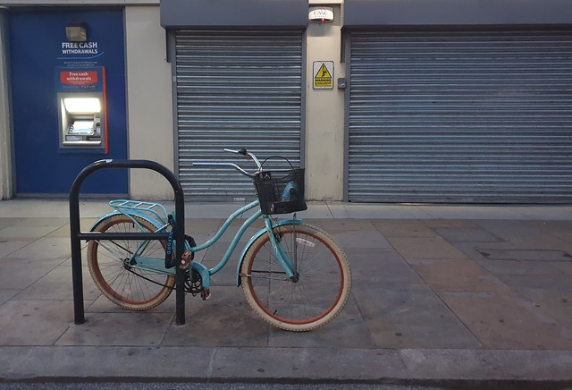 Lonely bike with no saddle
