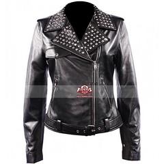 Keira Knightley (Domino Harvey) Black Leather Jacket