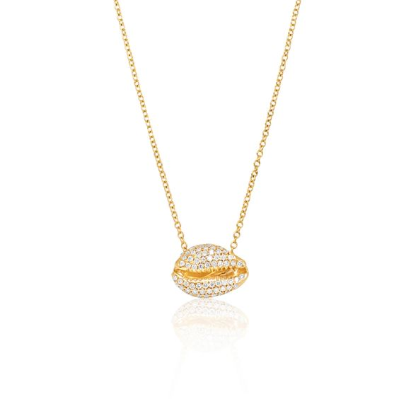 Le Cauri Endiamante diamond necklace full pave