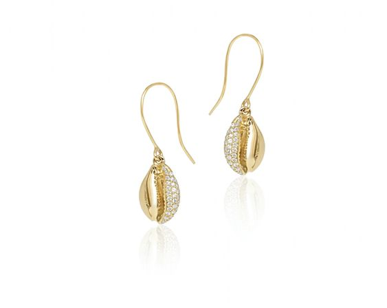 Le Cauri Endiamante diamond drop earrings