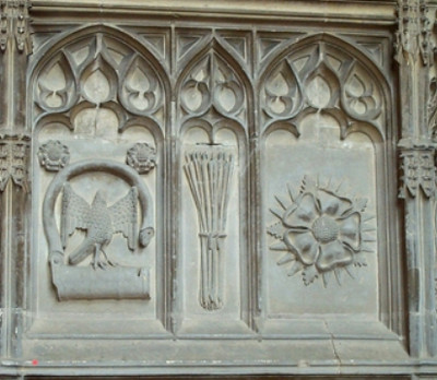 South side of Prince Arthur's Chantry,  Worcester Cathedral