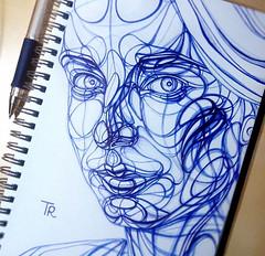 Scribble Portrait Pen Drawings