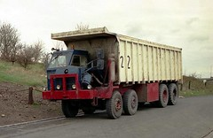 ergomammoth posted a photo:	This Foden half-cab eight wheeler based on the dumptruck range was something of a beast. With its maximum capacity tipper body it was being used on an opencast coal site at Church Gresley, working between there and Albert village back in the late 80s. I believe it belonged to Ivor Street.
