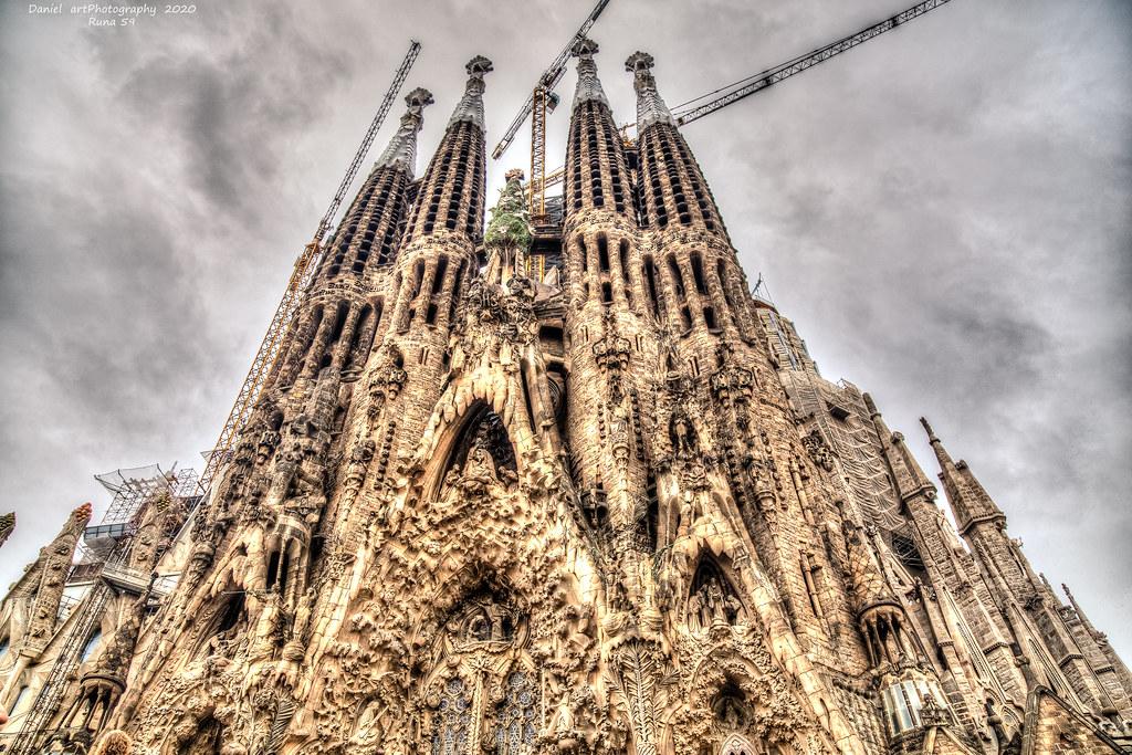 Fachada del Nacimiento,La sagrada Familia,Barcelona