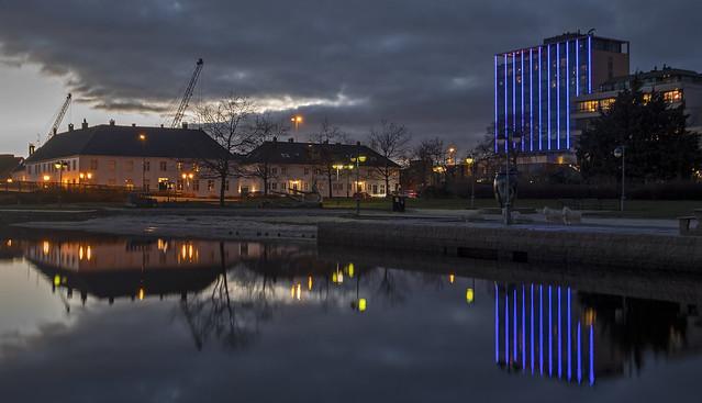 evening over Kristiansand
