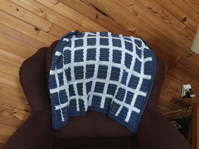 Debbie (debsnubs) makes a lot of baby blankets!! This is her newest crocheted one!