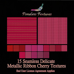 TT 15 Seamless Delicate Metallic Ribbon Cherry Timeless Textures