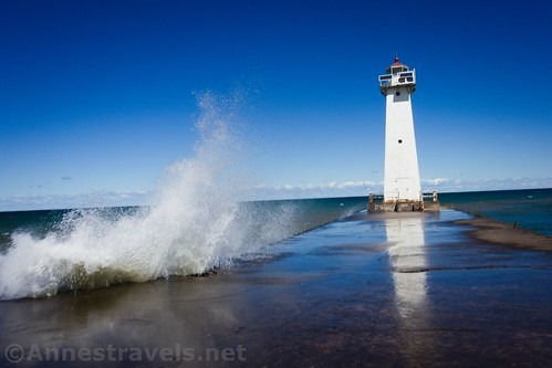 It was waves like this that made us nervous... Sodus Point Lighthouse, New York