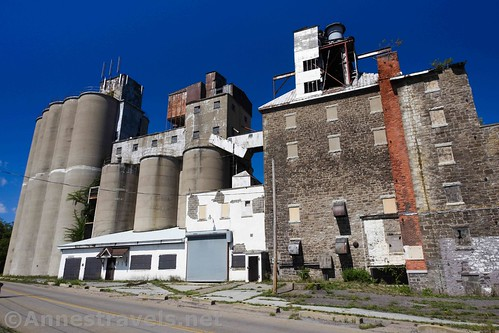 Silos and industrial buildings in Sodus Point, New York