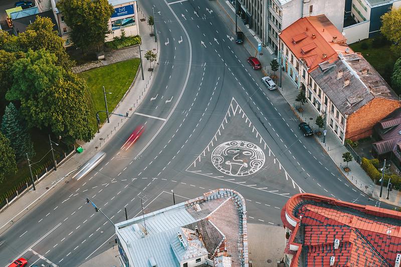 George Maciunas Square | Kaunas aerial #254/365