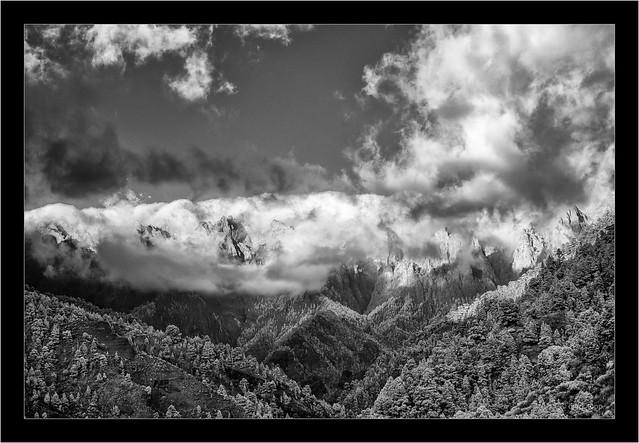 La Palma, clouds over the Caldera de Taburiente