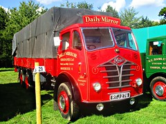 robertknight16 posted a photo:	Foden FG6-12 (1953) Engine UnknownLivery Daily Mirror Newspapers Ltd., Mark Lane, Withy Grove, Manchester 4Owner S Burton, LittleboroughRegistration Number RTJ 276 (Lancashire)FODEN SETwww.flickr.com/photos/45676495@N05/sets/72157623789275606...Superb truck normally seen with a matching draw bar trailerThankyou for a massive 54,550,695  views Shot 29.08.2016 at the Shrewesbury Steam Fair  REF 121-027