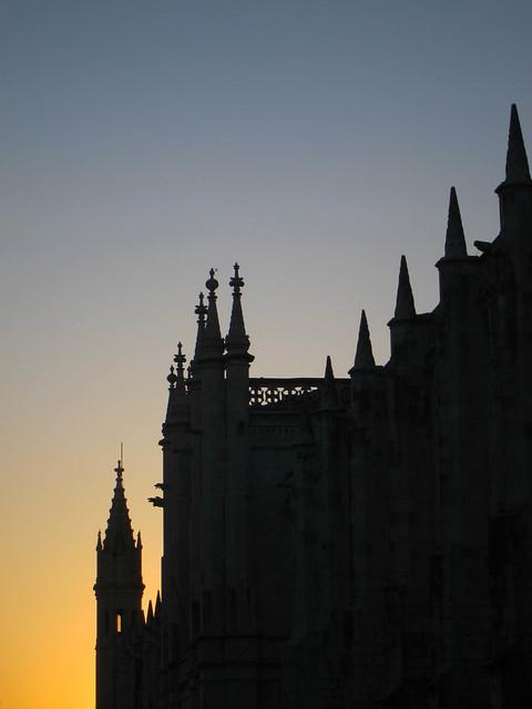 Monastery at sunset