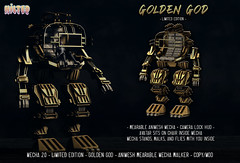 HILTED - Mecha 2.0 - Golden God - Limited Edition
