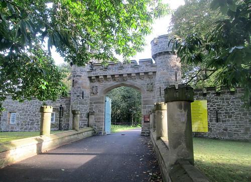 Gates to Hawarden Castle, Hawarden, North Wales