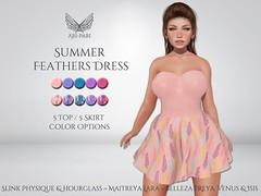 [Ari-Pari] Summer Feathers Dress
