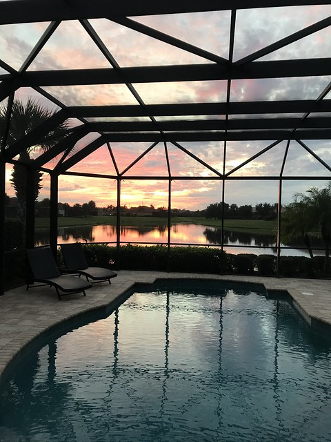 Sunset on the Patio ~ Venice, Florida