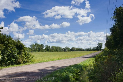 A field from where the Sodus-Wallington Trail crosses a country road, New York