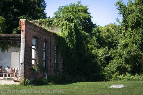 Approaching the old roundhouse, Sodus Point, New York