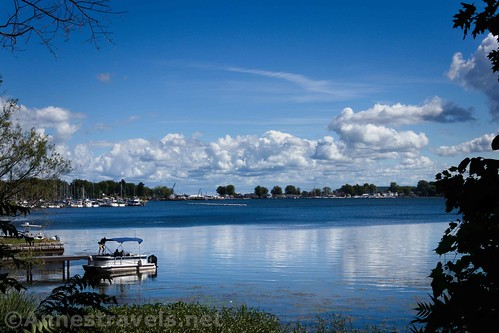 Sodus Bay from the small park at the end of Margaretta Street, Sodus Point, New York