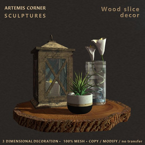 *AC& Wood slice decor