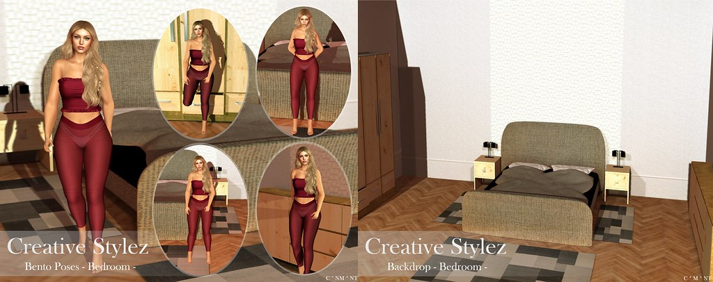 Creative Stylez – Backdrop & Poses – Bedroom –