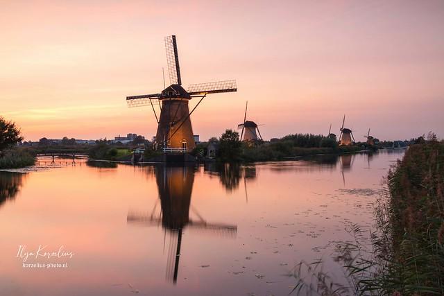 Kinderdijk illuminated