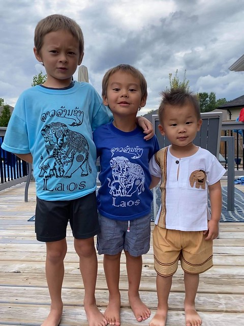 Managed to get this shot of three of my four grandkids almost all looking!! First time seeing them since Christmas and it will most likely be Christmas before I see them again!