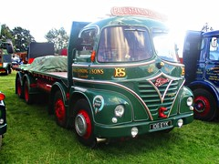 robertknight16 posted a photo:	Foden S21Sputnik Cab (1963) Engine Gardner DieselFleet Paul Standing + Son, TallybontOwner Paul Standing, DereddigionRegistration Number 106 EYK (Greater London)FODEN SETwww.flickr.com/photos/45676495@N05/sets/72157623789275606...Thankyou for a massive 54,550,695  views Shot 29.08.2016 at the Shrewesbury Steam Fair  REF 121-029